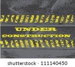 abstract under construction...   Shutterstock .eps vector #111140450