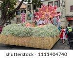 funchal  madeira  portugal  ... | Shutterstock . vector #1111404740