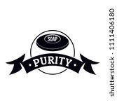 soap purity logo. simple... | Shutterstock . vector #1111406180
