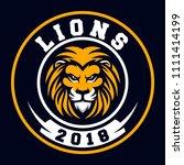 lions sport logo   Shutterstock .eps vector #1111414199