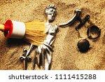 discovering justice figure... | Shutterstock . vector #1111415288