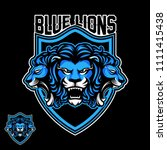 three lion sport logo | Shutterstock .eps vector #1111415438
