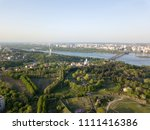 a bird's eye view  panoramic... | Shutterstock . vector #1111416386