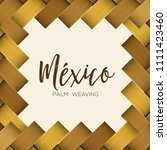 traditional colorful mexican... | Shutterstock .eps vector #1111423460