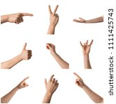 man hand with the various... | Shutterstock . vector #1111425743