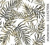 tropical vector green palm... | Shutterstock .eps vector #1111427006