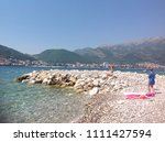 two girls on on the adriatic...   Shutterstock . vector #1111427594