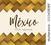traditional colorful mexican... | Shutterstock .eps vector #1111428389