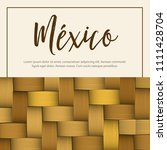 traditional colorful mexican... | Shutterstock .eps vector #1111428704