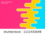 abstract vector background with ... | Shutterstock .eps vector #1111433648