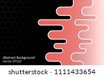 abstract vector background with ... | Shutterstock .eps vector #1111433654