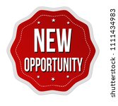 new opportunity label or... | Shutterstock .eps vector #1111434983