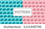 blue and pink seamless wave...   Shutterstock .eps vector #1111440740