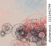 abstract painting on canvas.... | Shutterstock . vector #1111441799