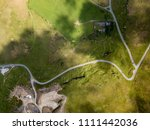 aerial top down view of a steep ...   Shutterstock . vector #1111442036