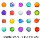 planet icon set. cartoon set of ... | Shutterstock . vector #1111443923