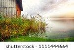 misty morning on altaussee... | Shutterstock . vector #1111444664