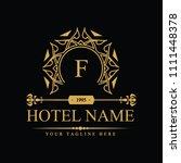 luxury logo template in vector... | Shutterstock .eps vector #1111448378