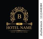 luxury logo template in vector... | Shutterstock .eps vector #1111448384