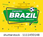 speech bubble brazil with icon... | Shutterstock .eps vector #1111450148