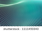 abstract polygonal space low... | Shutterstock . vector #1111450343