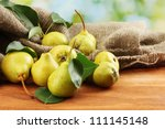 juicy flavorful pears of nature ... | Shutterstock . vector #111145148
