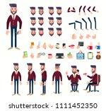 businessman character set for...   Shutterstock .eps vector #1111452350