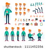 office worker character set for ... | Shutterstock .eps vector #1111452356
