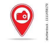 point of interest map pin icon. ...