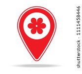 florist map pin icon. element... | Shutterstock .eps vector #1111458446