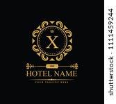 luxury logo template in vector... | Shutterstock .eps vector #1111459244