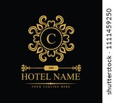 luxury logo template in vector... | Shutterstock .eps vector #1111459250