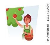 cute cartoon character. pretty... | Shutterstock .eps vector #1111461404