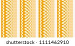 ikat seamless pattern. vector... | Shutterstock .eps vector #1111462910