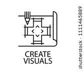 create visuals outline icon....
