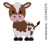 brown and white calf   cartoon... | Shutterstock .eps vector #1111466276
