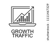 growth traffic  line icon.... | Shutterstock .eps vector #1111467329