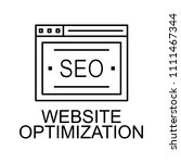 website optimization line icon. ... | Shutterstock .eps vector #1111467344
