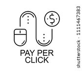 pay per click line icon.... | Shutterstock .eps vector #1111467383