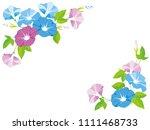 morning glory frame  | Shutterstock .eps vector #1111468733