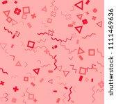 memphis background.  vintage...   Shutterstock .eps vector #1111469636