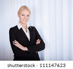 portrait of cheerful young... | Shutterstock . vector #111147623