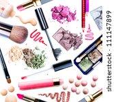 makeup. make up set.collage... | Shutterstock . vector #111147899