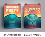 summer party flyer or poster... | Shutterstock .eps vector #1111479890