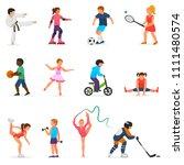 child in sport vector boy or... | Shutterstock .eps vector #1111480574