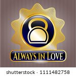 golden emblem with... | Shutterstock .eps vector #1111482758