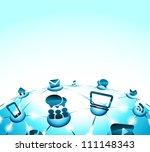 social network background of... | Shutterstock .eps vector #111148343
