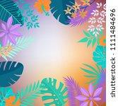 summer flower background  | Shutterstock .eps vector #1111484696