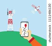 use application gps in mobile... | Shutterstock .eps vector #1111486130