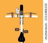 ride bicycle and use... | Shutterstock .eps vector #1111486133